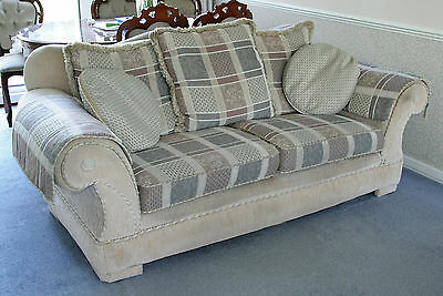 2 Piece Elegant Sofa/Settee, Cream/ivory colour, 3 seater & 1 armchair