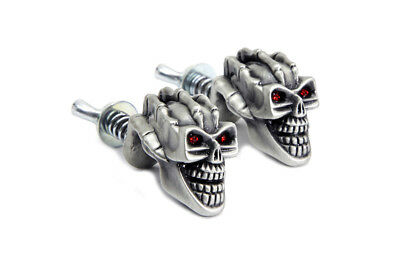 Skull with Skeleton Hand License Plate Topper Set for Custom Harley