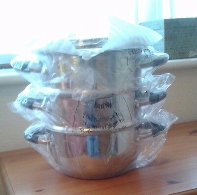 Ready Steady Cook Bistro 18cm Stainless Steel 3 Tier Steamer