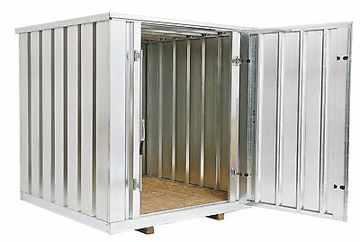 """Galvanized Steel Storage Shed (Container), 81"""" wide x 86"""" long x 87.5"""" high"""