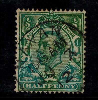 Great Britain/ S.g. # 323 Die A / Bluish Green/used. Very Good Catalogue Value.