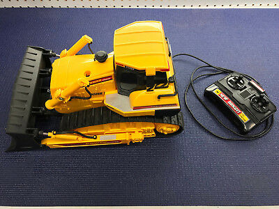 vintage New Bright Cat Dozer Wired Control Caterpillar Power Horse