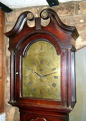 Georgian Oak 8 day Strike/Silent Longcase Grandfather Clock C1770-80