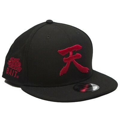 BAIT X Street Fighter x New Era Akuma Ten Snapback Cap black