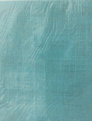 NEW - BURLAP (HESSIAN) - BLUE  - 30 cm x 30 cm - 1 SHEET