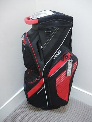 2017 Ping Traverse Golf Cart Bag Black/Red New in box with tags