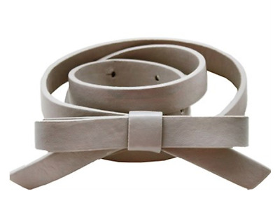 NWT Girls Grey/Taupe CHATEAU DE SABLE Belt With a Bow Sizes 6-8, 8-10 & 12-14