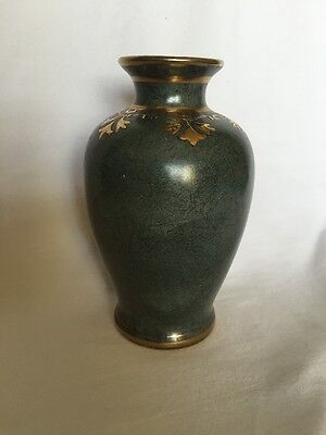 green marbled vase w/ gold trim by Toyo made in China