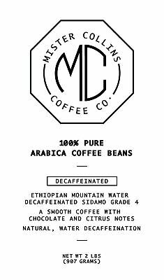 Mister Collins Coffee Co. Decaf Coffee Beans