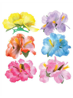 Lot 12 New Assorted Luau Hawaiian Flower Hibiscus Costume Accessory Hair Clips
