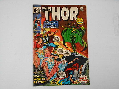 Thor #186, (Marvel Mar. 71), Worlds at War, 6.5  FN+