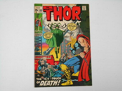 Thor #189, (Marvel Jun. 71), The Icy Touch of Death, 6.0  FN