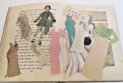 Antique Reader School Story Hour 1923 Revised Book 3 Paper Dolls Tucked Inside
