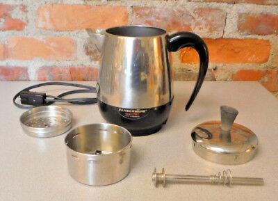 Vintage Farberware Percolator Coffee Maker #134 B Super Fast  Stainless 2-4 Cup