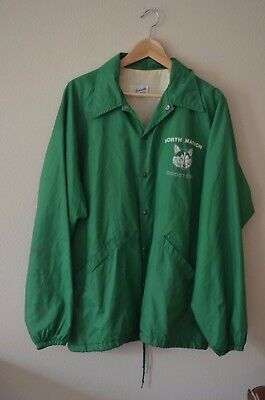 Vintage Green Swingster Jacket Varsity North Marion Boosters Wolf Size Large