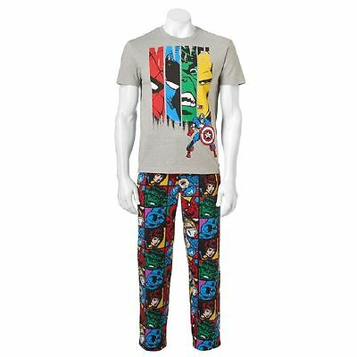 NEW Men's 2 Piece Sleep Set/Pajamas Marvel Super Heroes MSRP: $50