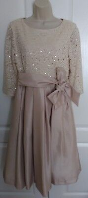 jessica howard party formal biege cream dress wedding champagne mother of bride