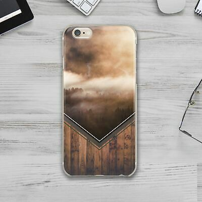 Geometry Nature Wood iPhone XS XR Silicone Cover Case iPhone 7 8 Plus X XS Max