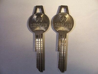 2 Old  Vintage Org  Chrysler  1764S  1960 To 1966 Key Blank   Uncut