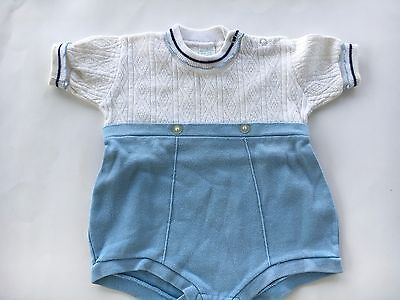 Vintage Baby boy one piece outifit size says 1 1/2 looks like a - 3-6 months