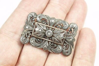 Antique Diamond Silver and Gold Brooch Edwardian Hallmarked