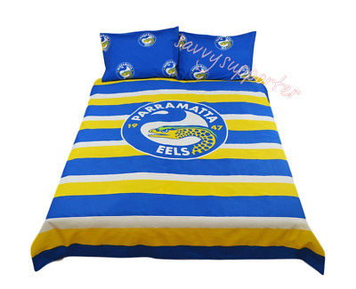 Parramatta Eels NRL Quilt Cover Set 'Select Size' Single Double Queen BNWT