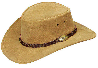 Kids/ Children  Suede leather hat 52 cm    Sand Colour  Cowboy Cowgirl look