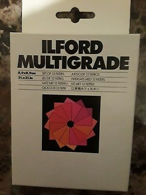 """Ilford Multigrade Filters 3.5"""" inch Full Set of 12 Square Photography Gels"""