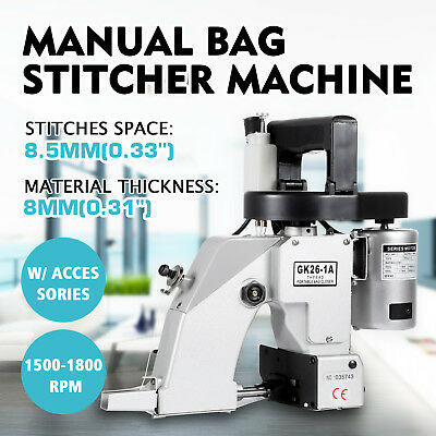 GK-26-1A Bag Closer Closing Machine Sewing Machine Portable Stitcher Tool Sack