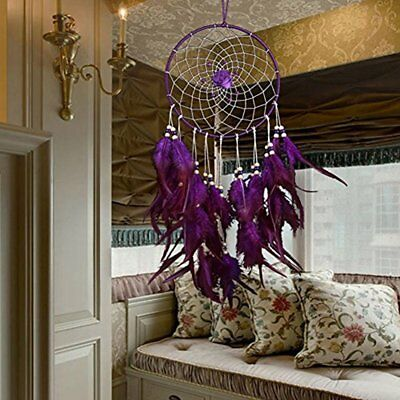 Large Purple Dream Catcher Traditional Style Dreamcatcher Xmas Gift No Tax Bed