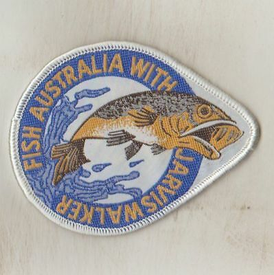 VINTAGE  WOVEN  SEW ON CLOTH PATCH / BADGE  FISH AUSTRALIA WITH J.W  New  ws4