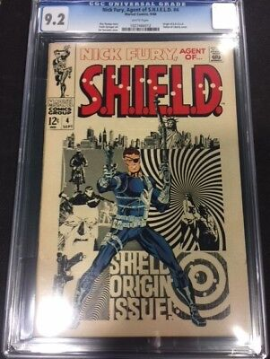 Nick Fury Agent of SHIELD #4 CGC 9.2 NM-