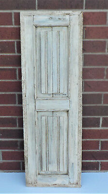 "SPANISH COLONIAL ANTIQUE WOODEN DOOR PANEL OLD MEXICO 39 1/4"" x 13"" x 15/16"" ""w"""