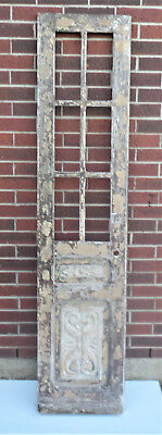 "SPANISH COLONIAL ANTIQUE WOODEN DOOR OLD MEXICO 79 1/4"" x 18"" x 1 5/16"" ""aa"""