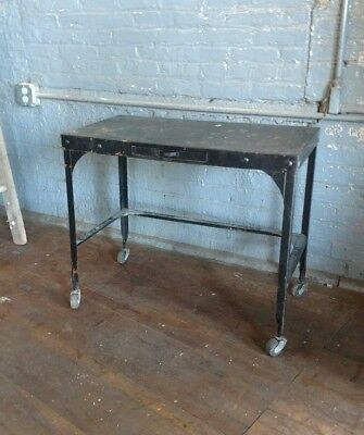 Industrial Toledo UHL Desk Original Hallway Entryway Office