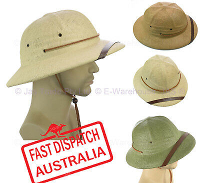Outdoor Bush Walking Safari Jungle Hard Pith Explorer Fancy Dress Helmet Hat