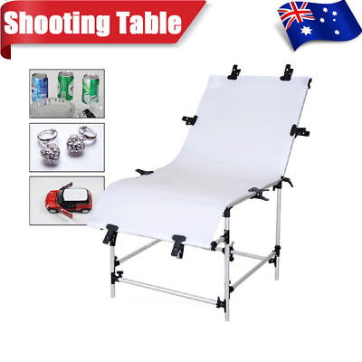 60x130cm Photography Studio Still Life Product Display Shooting Table W/ Clamps