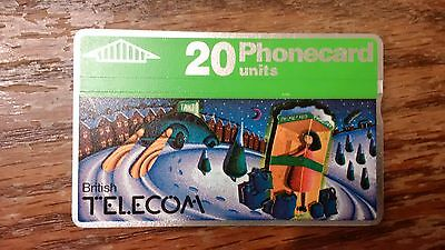 British Telecom Old Phonecard BT Phone Card 20 Units Collectible Christmas
