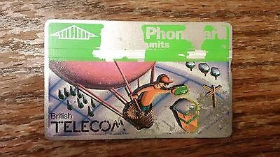 British Telecom Old Phonecard BT Phone Card 100 Units Collectible Christmas