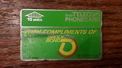 British Telecom Old Phonecard BT Phone Card 10 Units Collectible Brooke Bond Tea