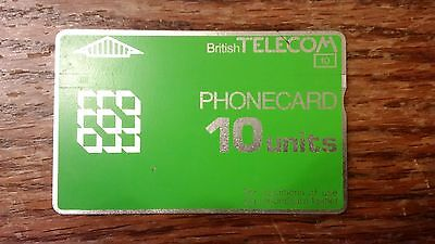 British Telecom Old Phonecard BT Phone Card 10 Units Collectible