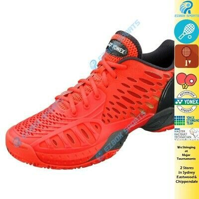 █EZBOX SPORTS█ Yonex Tennis shoes Eclipsion Red Power Cushion All Court RRP$199