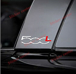 Kit 2 Adesivi Porta Door Montante Sportello Fiat 500L 500 L Bicolore Sticker