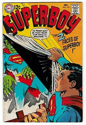 SUPERBOY #152 (FN+) Classic Silver-Age Neal Adams Cover! 1968 DC