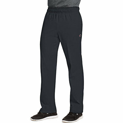 Mens Authentic Open Bottom Jersey Pants