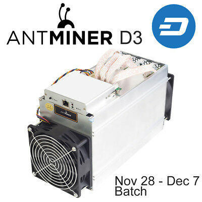 Original AntMiner D3 15GH/s X11 ASIC Dash Miner with power supply and warranty