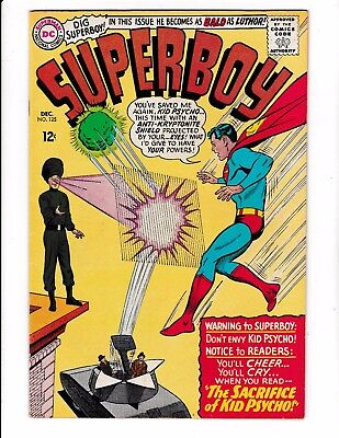 SUPERBOY #125 (VF-) LEGION OF SUPER-HEROES Cameo Appearance! DC 1965 LQQK