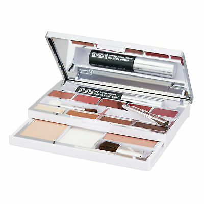 Clinique All-in-1 Colour Palette Makeup Face Mascara+Lipstick+Powder+Blush+Brush