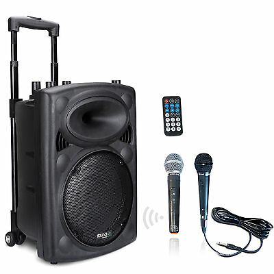 IBIZA PORT8 mobile Sound Beschallungsanlage PA DJ Box Bluetooth USB Akku Mikro