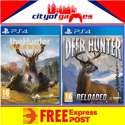 The Hunter Call of the Wild & Deer Hunter Reloaded PS4 Bundle New & Sealed